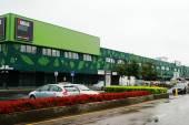 Vilnius city Outlet parkas shop house in Siaures miestelis — Stock Photo