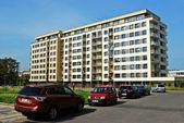 Vilnius city Savanoriu street new house — Stock Photo