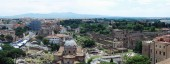 Rome aerial view from Vittorio Emanuele monument — Photo