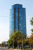 Vilnius city skyscrapers in Savanoriu street — Stock Photo