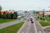 Vilnius city Ukmerges street view on  — Stock Photo