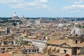 Rome aerial view from Vittorio Emanuele monument — 图库照片