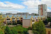Fabijoniskes residential quartier with new houses — Stockfoto