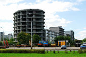 Building new house in Vilnius city Justiniskes district — Zdjęcie stockowe
