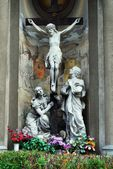 Sculptures of the Church of the Immaculate Conception of Blessed Virgin Mary — Stock Photo