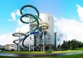 Water attraction park in Druskininkai spa city — Foto de Stock