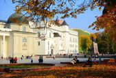 Palace of the Grand Dukes of Lithuania in Vilnius city — Foto de Stock