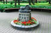 Sculpture in the street of Druskininkai city — Foto de Stock