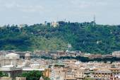 Rome aerial view from Vittorio Emanuele monument — Stok fotoğraf