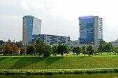 Vilnius city center shot from Zverynas district — Стоковое фото