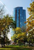 вильнюс город небоскребов в savanoriu улица — Стоковое фото