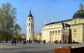 Vilnius cathedral is main church of Lithuania — Stok fotoğraf