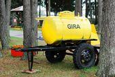 Kvass barrel in the Grutas park near Druskininkai city — Stockfoto