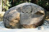 Second largest rock in Anyksciai district of Lithuania Puntukas — Stock Photo