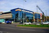 Vilnius city Zverynas district and Panorama shop center — Stock Photo