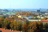 Vilnius autumn panorama from Gediminas castle tower — Стоковое фото