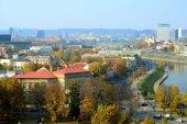 Panorama di autunno di Vilnius da Gediminas Torre del castello — Foto Stock