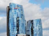 Skyscrapers in Vilnius city on September 24, 2014 — Stock Photo