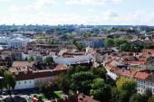 Vilnius city aerial view from Vilnius University tower — Stockfoto