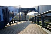 Mindaugas bridge over Neris river in Vilnius city — Stockfoto