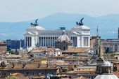 Rome city aerial view from San Angelo castle — Stockfoto