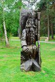 Wooden sculpture in park of Druskininkai city — Stockfoto