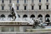 View of Rome city Piazza della Reppublica on June 1, 2014 — Stockfoto