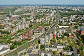 Capitale di vista aerea Lituania a Vilnius — Foto Stock