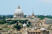 Rome aerial view from Vittorio Emanuele monument — Zdjęcie stockowe