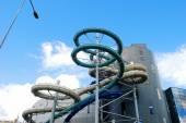 Water attraction park in Druskininkai spa city — Stock Photo