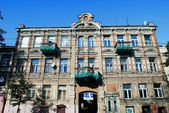 Vilnius town old residential house on September 24, 2014 — Stock Photo