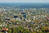 Capital de la ciudad de Vilnius de vista aérea de Lituania — Foto de Stock
