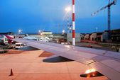 Fiumicino airport - first airport of Rome city on June 1, 2014 — Stock Photo
