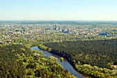 Vilnius city capital of Lithuania aerial view — Photo