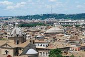 Rome aerial view from Vittorio Emanuele monument — Stock Photo