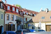 Vilnius town old residential house on September 24, 2014 — Stok fotoğraf