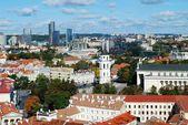 Vilnius city aerial view from Vilnius University tower — Stok fotoğraf