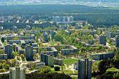 Vilnius city capital of Lithuania aerial view — Foto de Stock