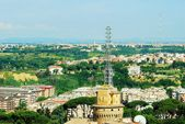 Aerial view of Rome city from St Peter Basilica roof — Stok fotoğraf