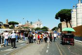 Rome city life. View of Rome city on June 1, 2014 — Stock Photo