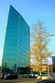 Office in the Vilnius city at autumn time on November 11, 2014 — 图库照片