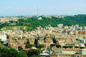 Aerial view of Rome city from St Peter Basilica roof — Стоковое фото