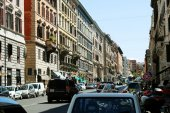 Rome city life. View of Rome city on June 1, 2014 — Стоковое фото