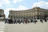 View of Rome city Piazza della Reppublica on June 1, 2014 — Стоковое фото