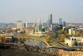 Vilnius autumn panorama from Gediminas castle tower — Стоковое фото