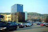 Città di Vilnius Danske Bank al tempo di autunno su 11 novembre 2014 — Foto Stock