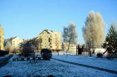 Vilnius city Pasilaiciai district at winter time — Стоковое фото