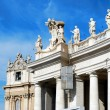 Sculptures on the facade of Vatican city works — Stock Photo #59940483