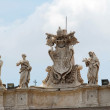 Sculptures on the facade of Vatican city works — Stock Photo #59940519