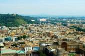 Aerial view of Rome city from St Peter Basilica roof — Stockfoto